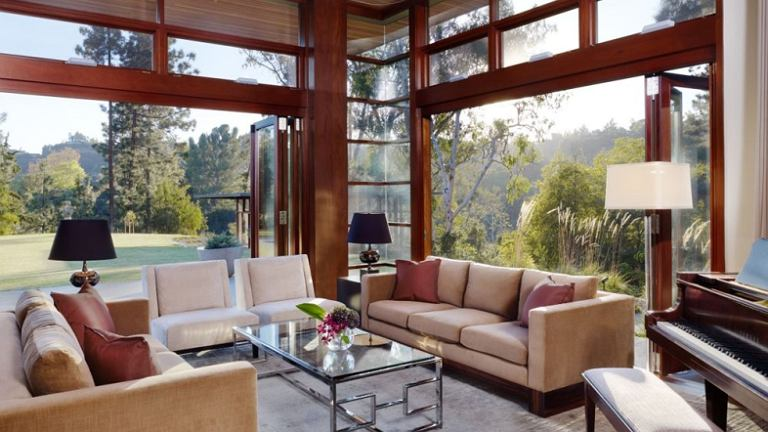 Dom w Mandeville Canyon, Los Angeles. Projekt:  Rockefeller Partners Architects
