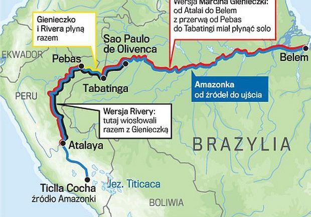Trasa wyprawy Marcina Gienieczki