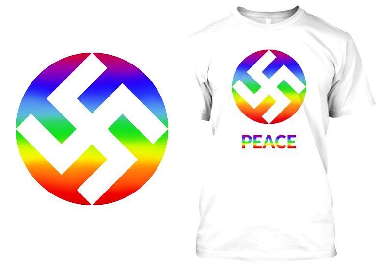 Marka odzieżowa KA Designs postanowiła 'odczarować' swastykę prezentując światu jej nową, tęczową wersję