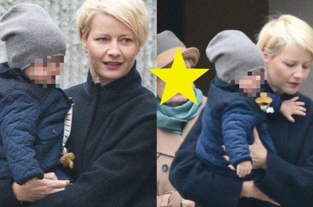 Ma�gorzata Ko�uchowska z synem. Ale� on du�y! Obok mama aktorki. Wyczucie stylu jest dziedziczne