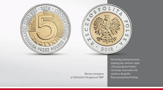 Tyle monet, ilu obywateli. Bank centralny wypuszcza nową 5-złotówkę, by uczcić rocznicę odzyskania niepodległości. Chcecie ją zdobyć?