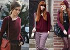 Street fashion: bordo i purpura