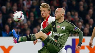 Michał Pazdan w meczu Ajax - Legia Warszawa
