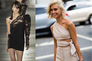 Na jedno ramię - bluzki i sukienki w gorącym trendzie sezonu