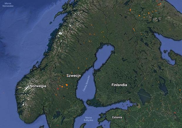Pożary w Szwecji. Miejsca, w których wciąż płoną lasy (stan na 23 lipca)