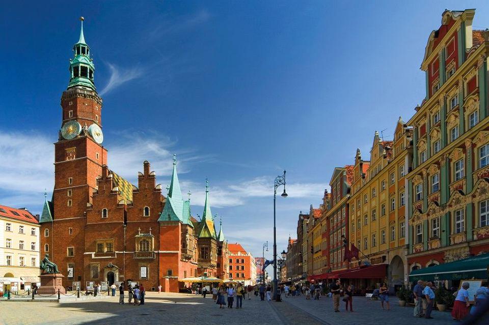 Wrocław stare miasto. w centralnej części wytyczonego w xiii w