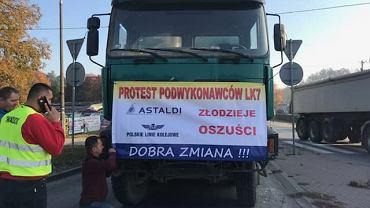Protest podwykonawców firmy Astaldi.