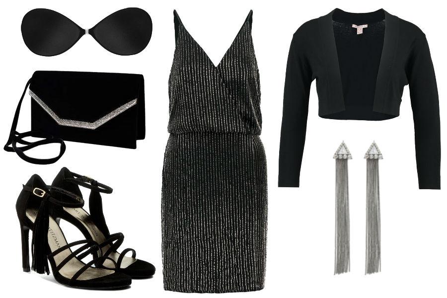 Kolaż Avanti24 / Biustonosz samonośny w stylizacji z sukienką odkrywającą plecy / Materiały partnera