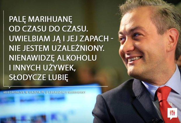 Doniesienie do prokuratury po rozmowie Biedronia z Gazeta.pl. Z�ama� ustaw� o przeciwdzia�aniu narkomanii?