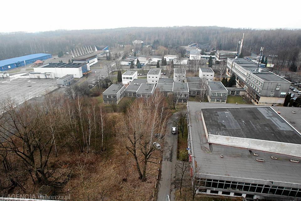 Teren Międzynarodowych Targów Katowickich. Widok z dachu hotelu sieci Best Western