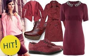 bordowy, zima 2012, trendy, jesień 2012, modne kolory