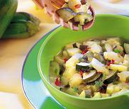 Gulasz z cukinii i melona