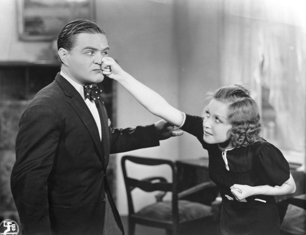 Renata Radojewska i Adolf Dymsza w filmie ''Niedorajda'', 1937 r. (fot. Zbiory Filmoteki Narodowej)