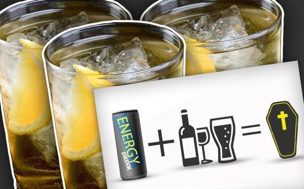 Przedawkowane napoje energetyczne s� powa�nym zagro�eniem dla zdrowia. Je�li zmieszasz je z alkoholem szansa na wizyt� (ostatni�) na reanimacyjnym dramatycznie ro�nie