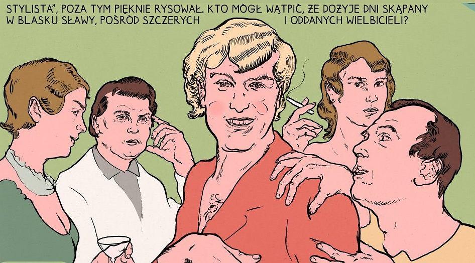 Kadr z komiksu 'Jądro ciemności'