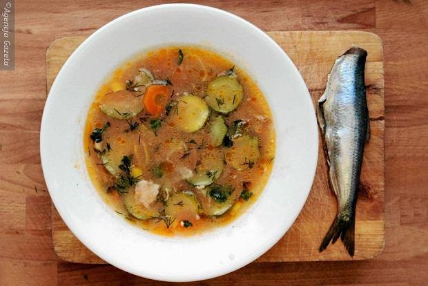 Zupa rybna przygotowana przez Igora Nazaruka i Ewe Wiśniewska w ramach cyklu kulinarnego