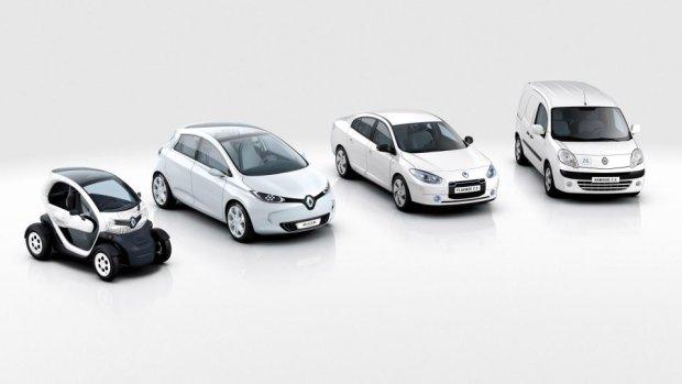 Paleta samochodów elektrycznych Renault