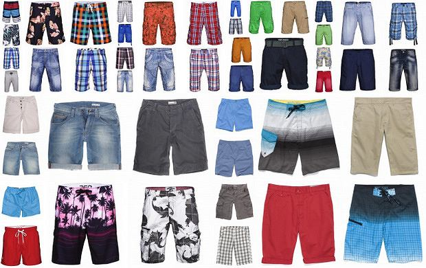 Męskie szorty na lato 2012 - ponad 120 propozycji!