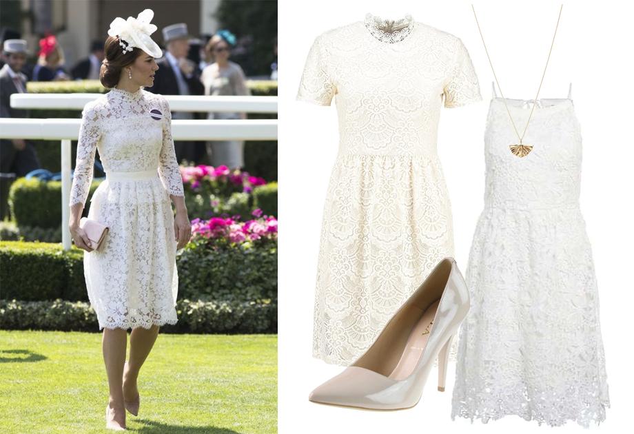 Księżna Kate w sukience z koronki