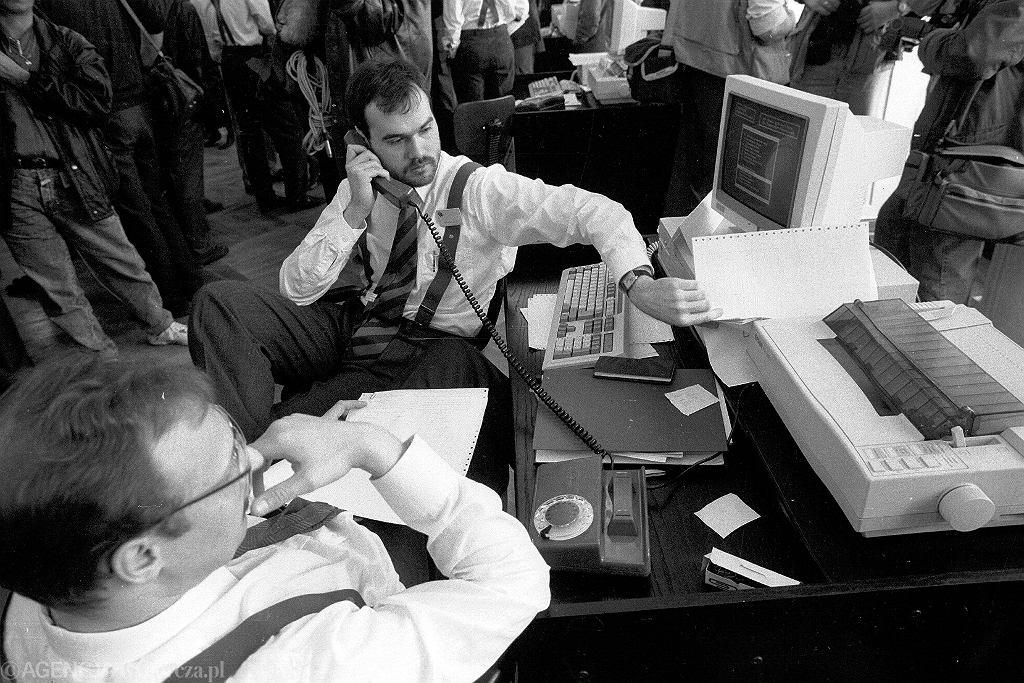 Pierwsza sesja na Giełdzie Papierów Wartościowych w Warszawie - 16 kwietnia 1991