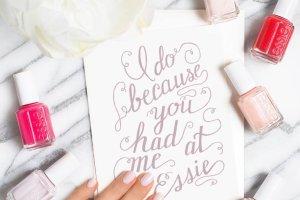 Ślubny manicure według essie: lakiery do paznokci dla panny młodej