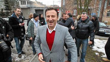 4 kwietnia 2013. Paweł Golema po opuszczeniu aresztu