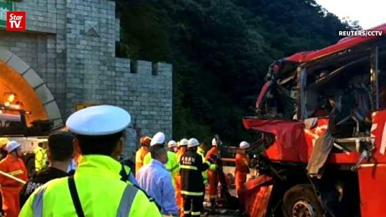 Wypadek autokaru  w Chinach