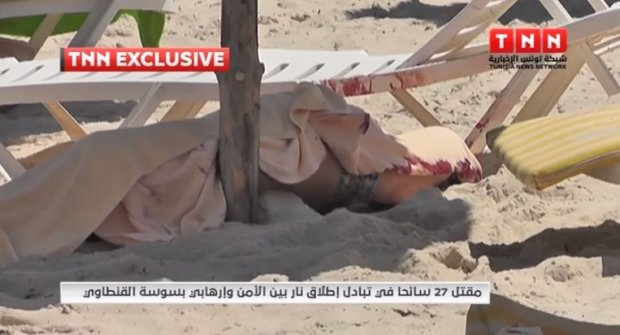 materiały z miejsca zamachu od tunezyjskiej TNN