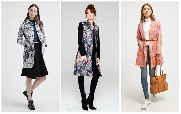 Damskie płaszcze ozdobione motywem kwiatowym - najciekawsze modele