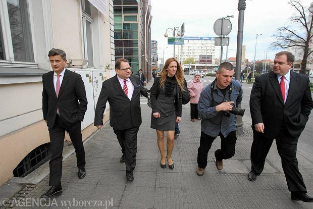 Paweł Piskorski, Janusz Palikot, Ryszard Kalisz i Magdalena Kasznia
