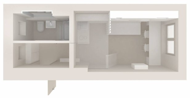 Plan mieszkania: 15,5 m kw.