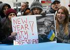 """""""Kij�w - Warszawa wsp�lna sprawa"""" Protest pod ambasad� Ukrainy"""