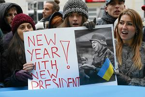 """""""Kijów - Warszawa wspólna sprawa"""" Protest pod ambasadą Ukrainy"""