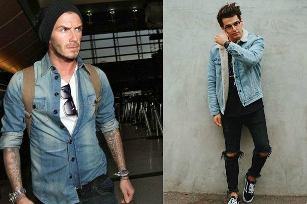 jeansowe stylizacje