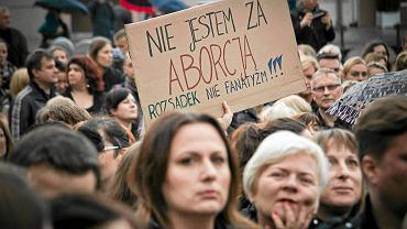 """""""Czarny protest"""" w Białymstoku"""