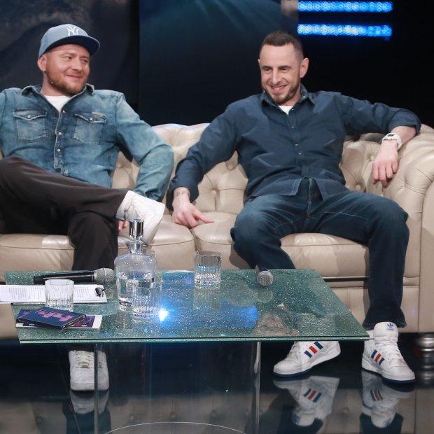 Kuba Wojewódzki, sezon 12, odcinek 4; talk show, rok produkcji: 2016; go�cie programu: Mateusz Gessler i Kaliber 44; fot: TVN / Wojciech Kurczewski