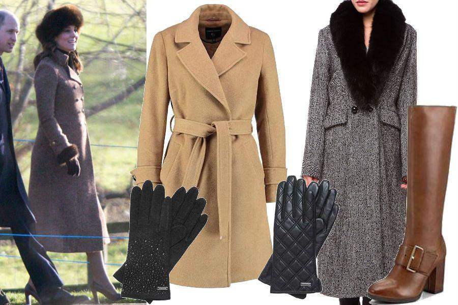fot. EastNews/ Księżna Kate/ zimowe płaszcze