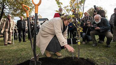 Sadzenie drzewek dla Wisławy Szymborskiej i Kornela Filipowicza