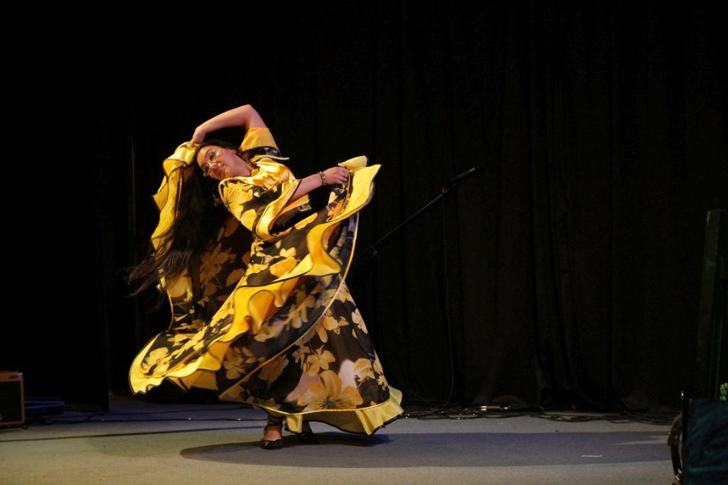 Romka w tradycyjnym tańcu (fot. Centrum Doradztwa i Informacji dla Romów w Polsce)