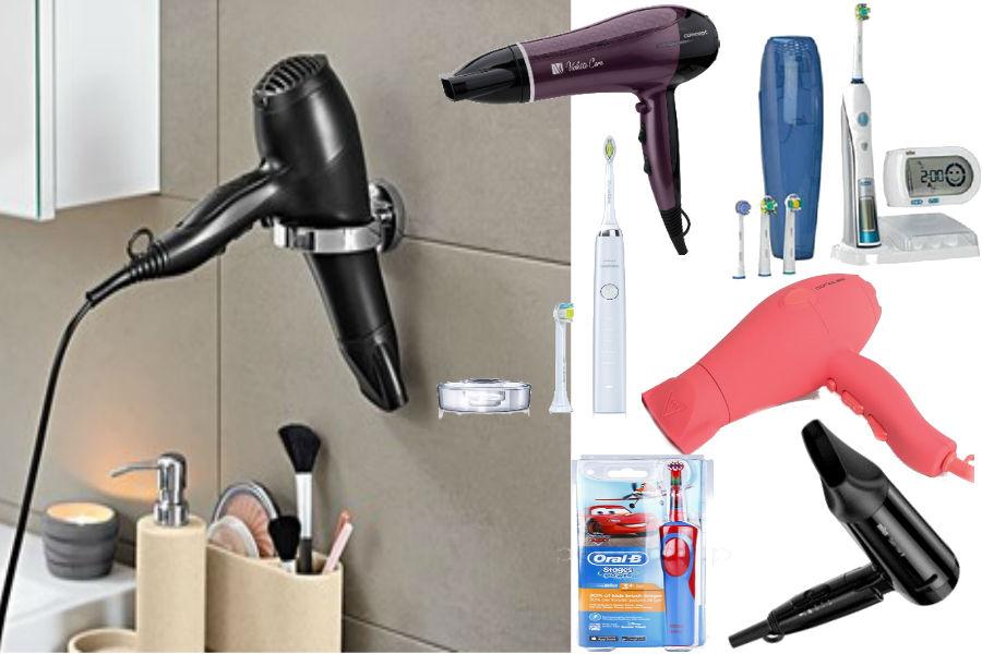 Suszarki do włosów i elektryczne szczoteczki do zębów