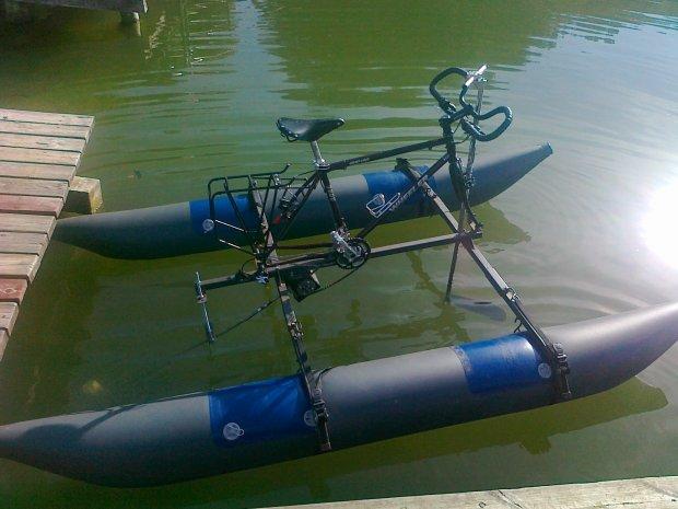 Prototyp roweru amazońskiego - testy na rzece Warta