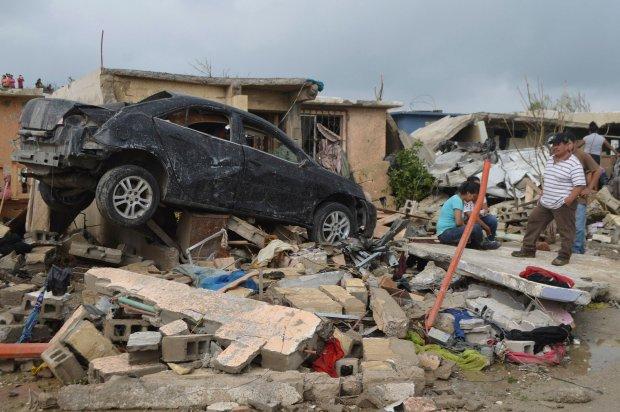 Kl�ska �ywio�owa w USA i Meksyku. Ofiary �miertelne i zniszczone miasta