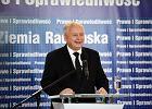 Jaros�aw Kaczy�ski chwali niemieckie proszki na konwencji PiS