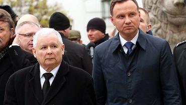 Prezes PIS-u Jarosław Kaczyński i prezydent Andrzej Duda