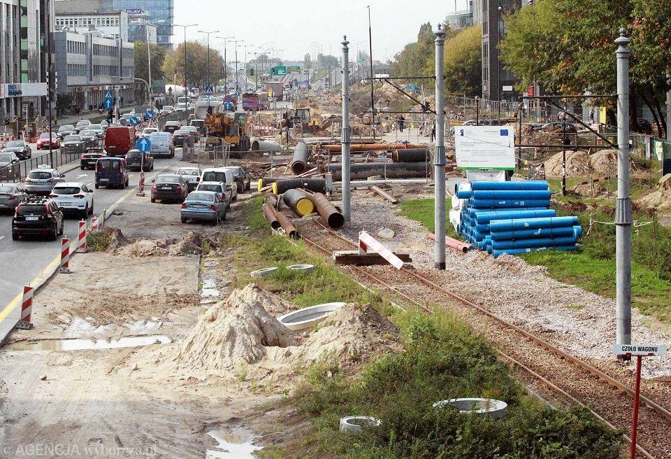 Rozkopana ulica Marynarska