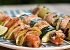 Witaminy z grilla - szaszłyki z łososiem i warzywami