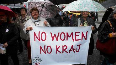 Czarny protest w Łodzi.