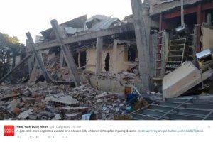 Wybuch cysterny zniszczy� szpital dzieci�cy w Meksyku. Ucierpia�y dziesi�tki os�b