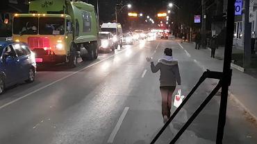 Protest pasażerki autobusu