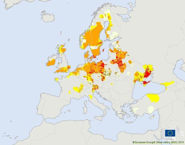Susze w Europie